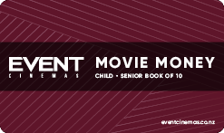 Movie Money Book of 10 - Child/Senior