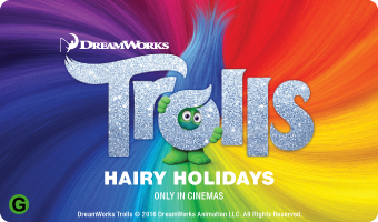 Trolls Movie Gift card