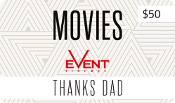 $50 Fathers Day Movie Gift Card