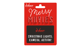 Christmas Movie Gift Card Red